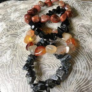 Jewelry - Bundle of Vintage Stone Hippie BOHO Bracelets!